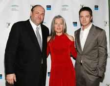 James Gandolfini, Gloria Flora and Topher Grace